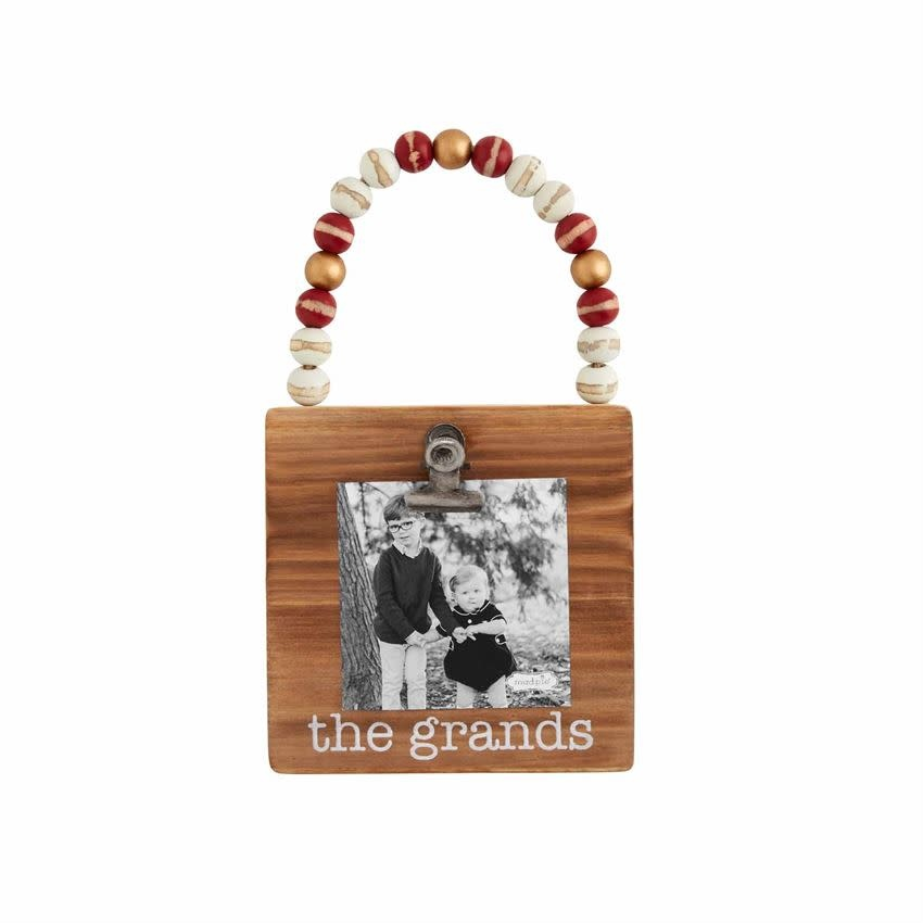 Mudpie GRANDS WOOD FRAME ORNAMENT