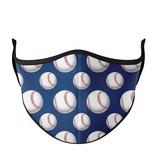 Top Trenz Baseball Fashion Mask w Filter Pocket 8+ (Tween/Adult Size)
