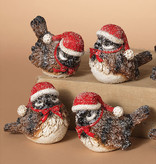 Fleurish Home Frosted Holiday Bird Wearing Hat & Bow (choice of 4 styles)
