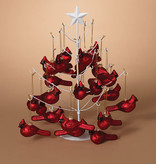 Fleurish Home Hand Blown Glass Cardinal Ornament