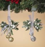 Fleurish Home Holiday Mistletoe w/ Bells on Ribbon
