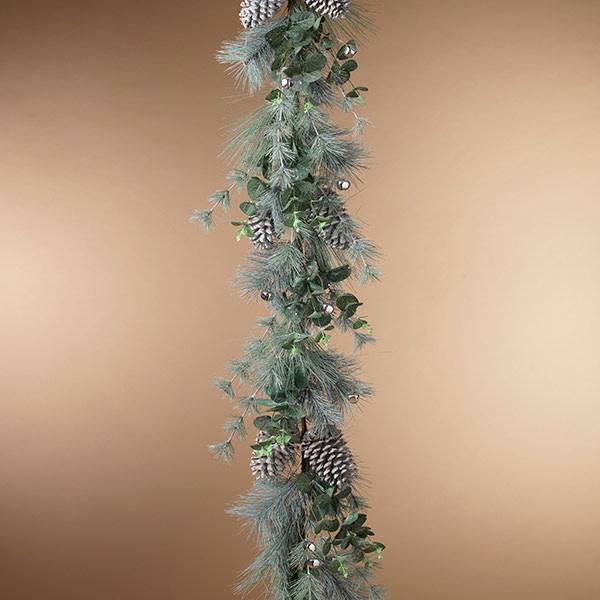 Fleurish Home Holiday Pine and Eucalyptus Garland 5'L