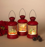 """Fleurish Home Lighted Musical Spinning Snow Globe (choice of 3 designs) 7.1""""H B/O (red)"""