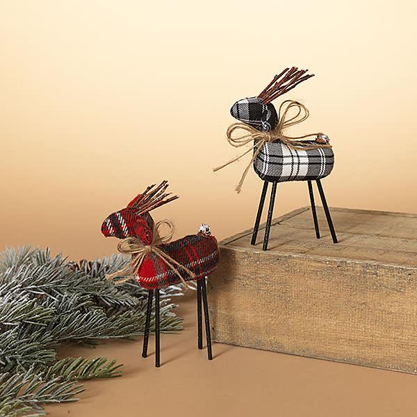 Fleurish Home Holiday Plaid Fabric Deer (choice of 2 colors)