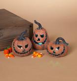"Fleurish Home 3.9""H B/O Lighted Dark Orange Jack o Lantern (choice of 3 styles)"