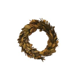 Fleurish Home Small Brown Preserved Boxwood Wreath