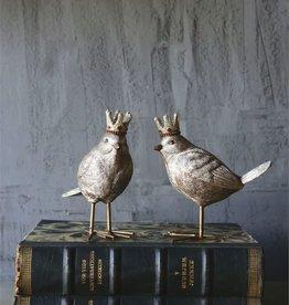 Fleurish Home Champagne Metallic Bird w Crown