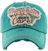 Fleurish Home Nurse Hair Don't Care Hat (black or turquoise)