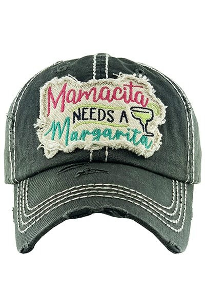 Fleurish Home Mamcita Needs a Margarita Hat (black)