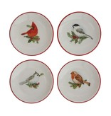 Fleurish Home Dish w/ Holiday Bird & Red Rim (choice of 4 styles)