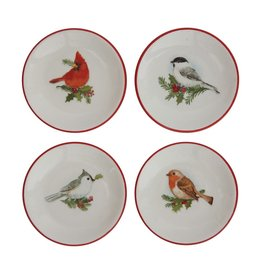 Fleurish Home *last chance* Dish w/ Holiday Bird & Red Rim (choice of 4 styles)