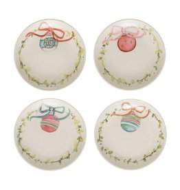 Fleurish Home *last chance* Round Plate w/ Ornament & Wreath (Choice of 4 Styles)