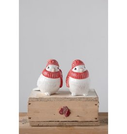 Fleurish Home *last chance* White Bird w/ Red Hat & Scarf (Choice of 2 Styles)