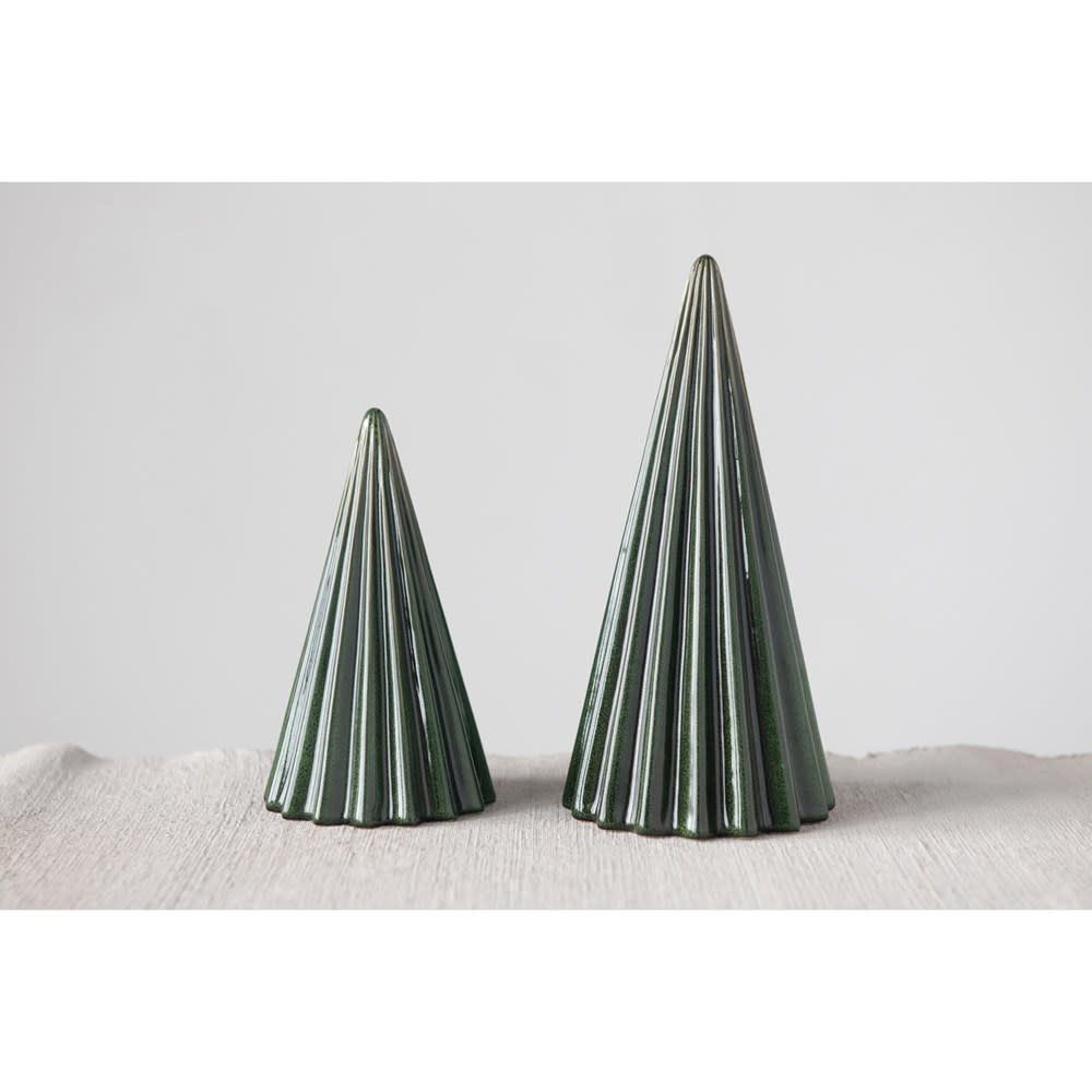 Fleurish Home Large Green Reactive Glaze Tree (Each One Will Vary)