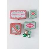 Fleurish Home Med Vintage Style Metal Cmas Box (green wonderful)