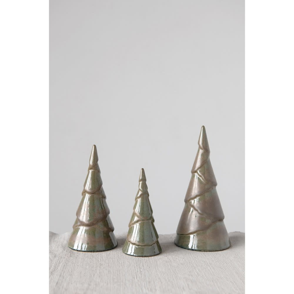 Fleurish Home Small Brown Reactive Glaze Tree (Each One Will Vary)