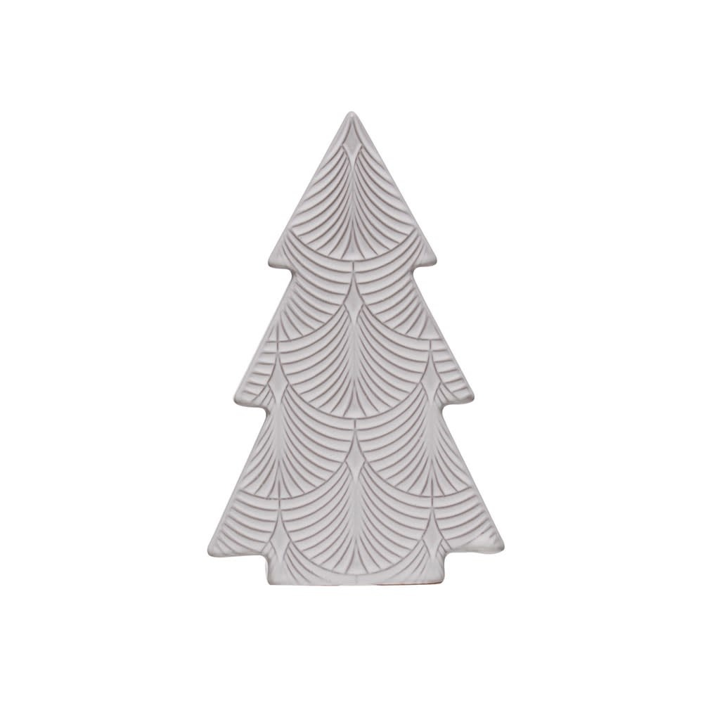Fleurish Home Large White Embossed Porcelain Tree