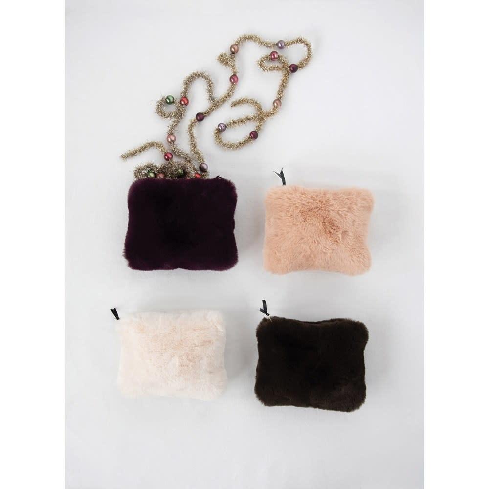 Fleurish Home Faux Fur Zip Pouch (Choice of 4 Colors)