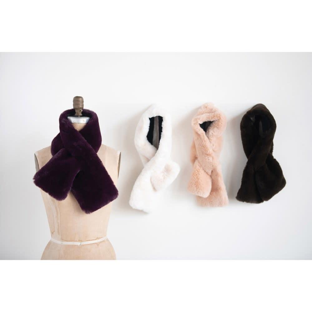 Fleurish Home Faux Fur Scarf (Choice of 4 Colors)