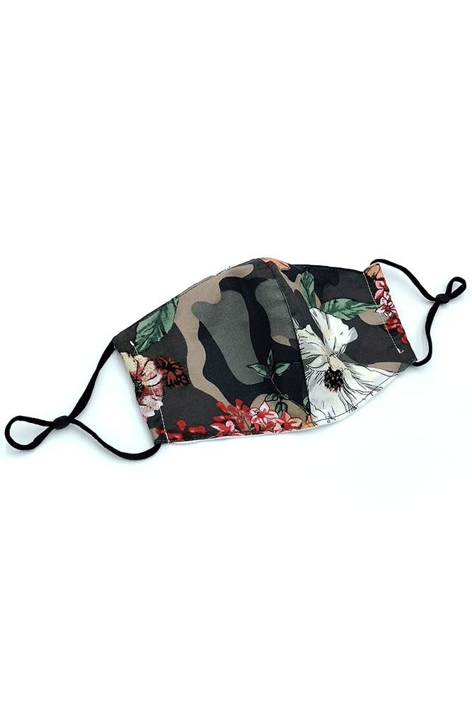 Fleurish Home Mixed Floral Print Fashion Mask