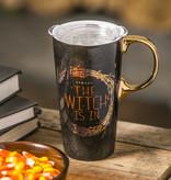 Fleurish Home Witch Is In Ceramic Travel Mug w Box