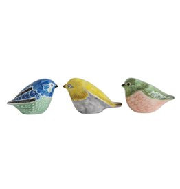 Fleurish Home Hand-Painted Stoneware Bird (Choice of 3 Colors)