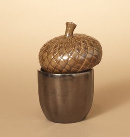 Fleurish Home Ceramic Acorn Container