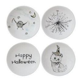 Fleurish Home Halloween Round Stoneware Dish (4 designs)