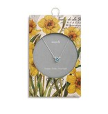 Fleurish Home Simply Birthstone Neck.-March/Aquamarine