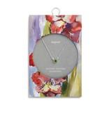 Fleurish Home Simply Birthstone Neck.- August/Peridot