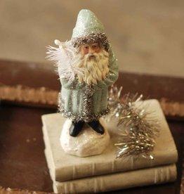 "Fleurish Home 9"" Santa in Sparkling Snow Blue"