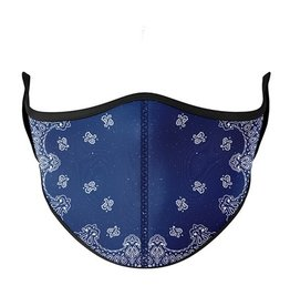 Top Trenz Blue Bandana Fashion Mask w Filter Pocket (Kids 3-7)