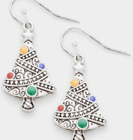 Fleurish Home Artsy Christmas Tree Earrings (French Hook)