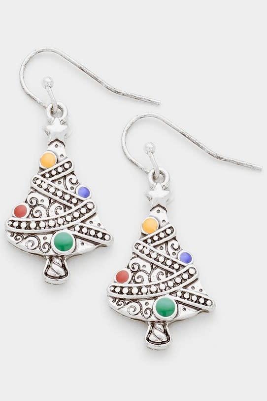 Fleurish Home Artsy Christmas Tree Earrings (French Hook)