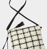 Fleurish Home Tweed Lurex Plaid Crossbody/ Clutch Bag
