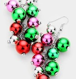Fleurish Home Christmas Ornament Cluster Earrings (french hook)