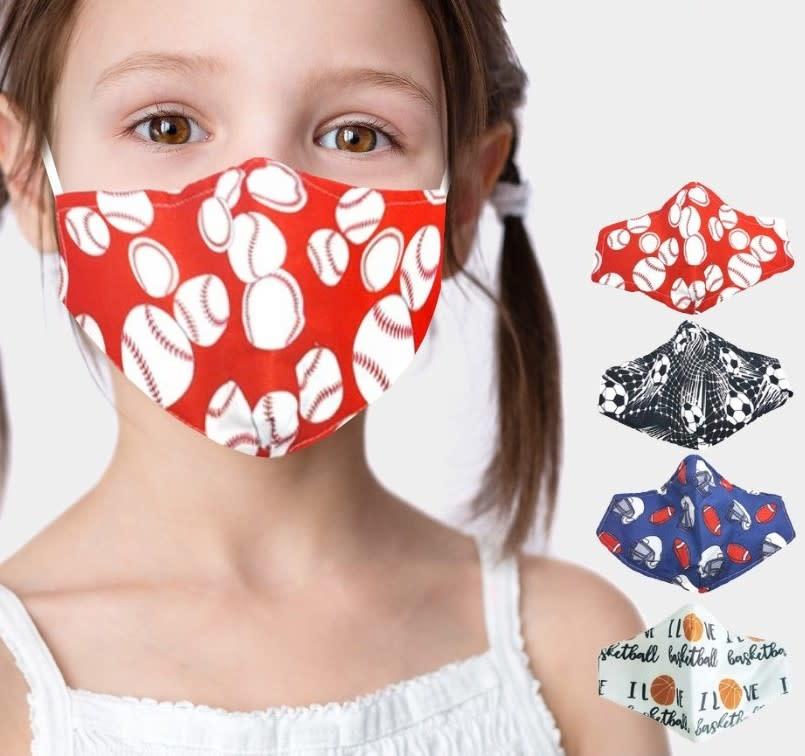 Fleurish Home Kids Fashion Mask (Choice of 4 Sports Designs)