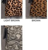 Fleurish Home Animal Print Crossbody/ Clutch Bag