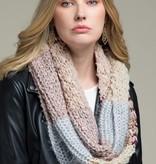 Fleurish Home Color Blocked Stripe Infinity Knit Scarf