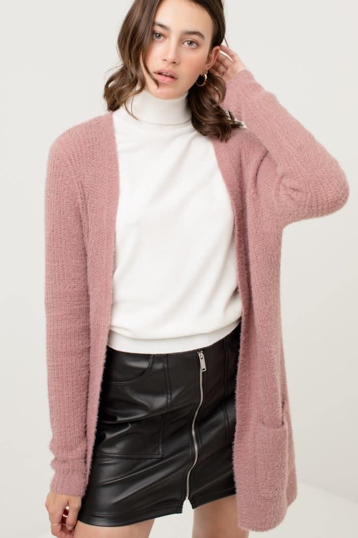 Fleurish Home Fuzzy Knit Long Cardigan