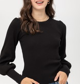 Fleurish Home Gathered Shoulder Cropped Sweater *last chance
