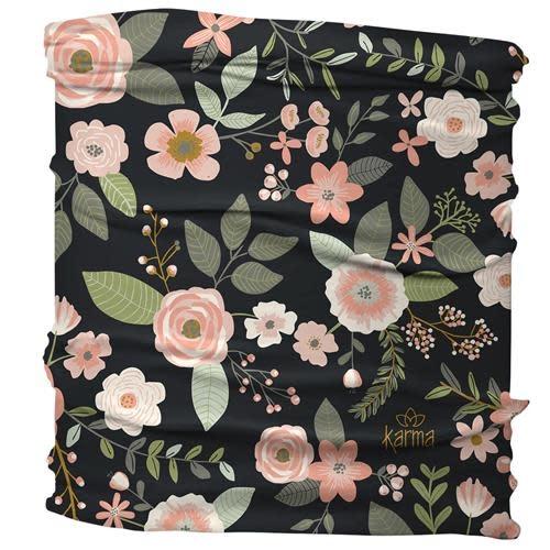 Karma Black Floral Medium / Half Headband