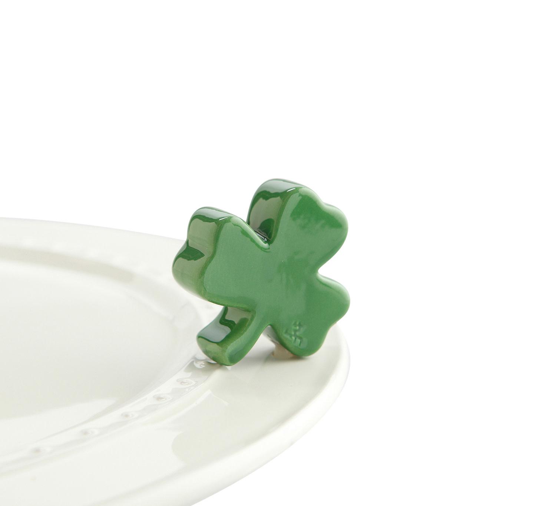 nora fleming irish at heart mini (green clover)