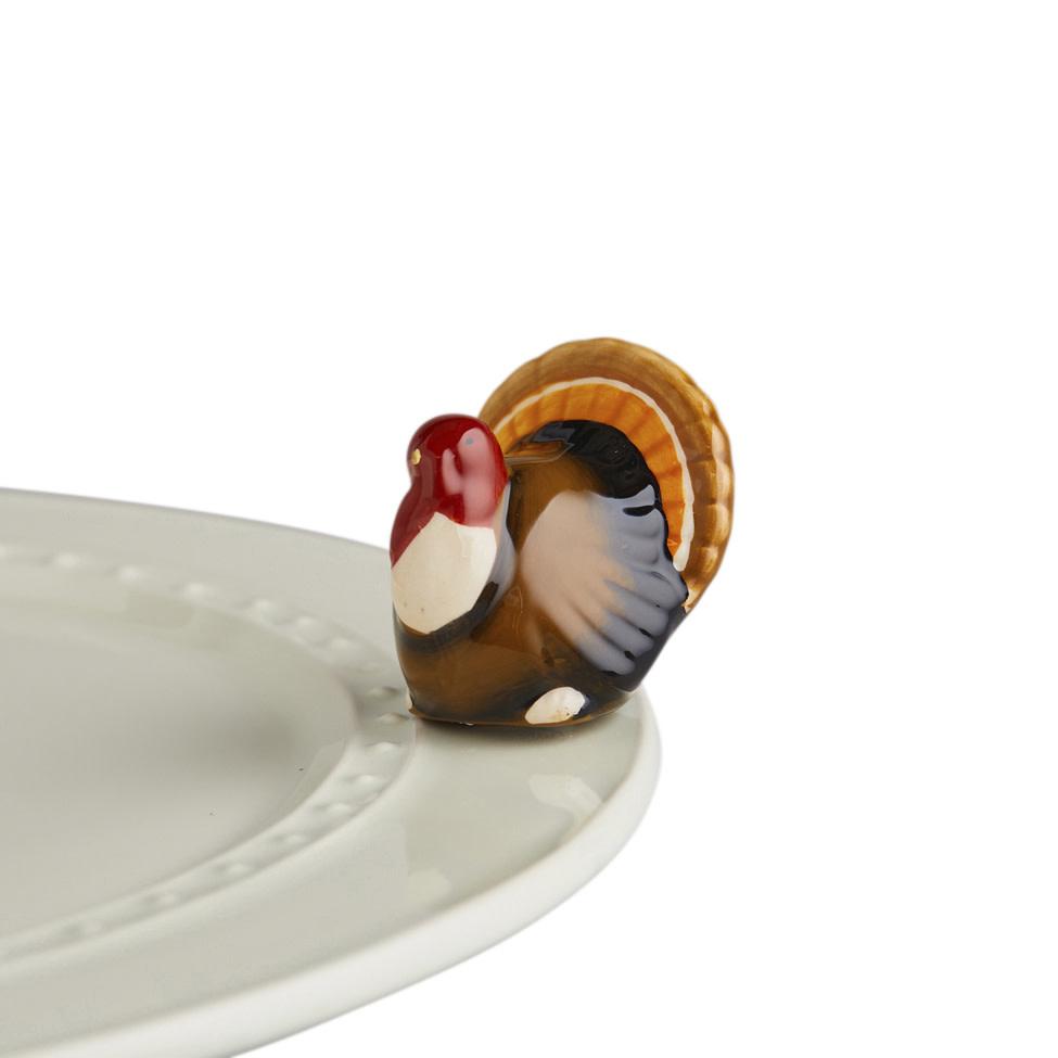 nora fleming gobble gobble! mini (turkey)