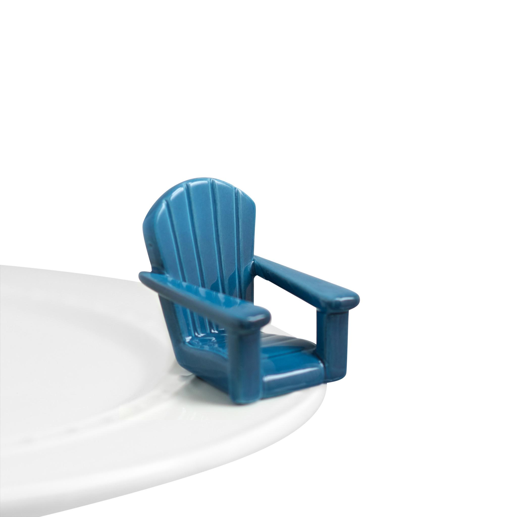 nora fleming chillin' chair blue mini (adirondack)