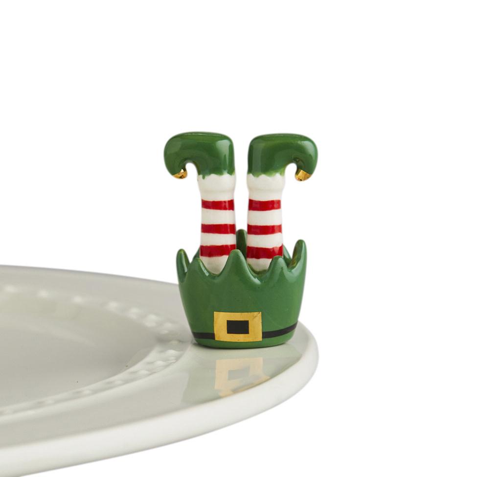 nora fleming jingle toes mini (upside down elf feet)