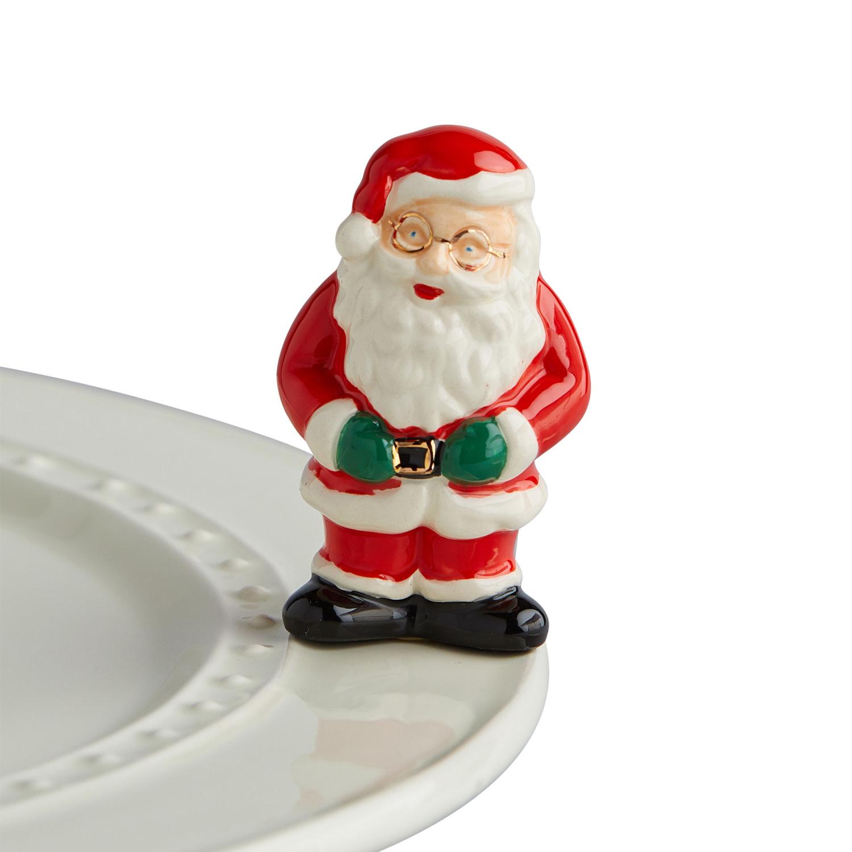 nora fleming father christmas mini (santa/mr clause)