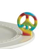 nora fleming peace out! mini (peace sign)