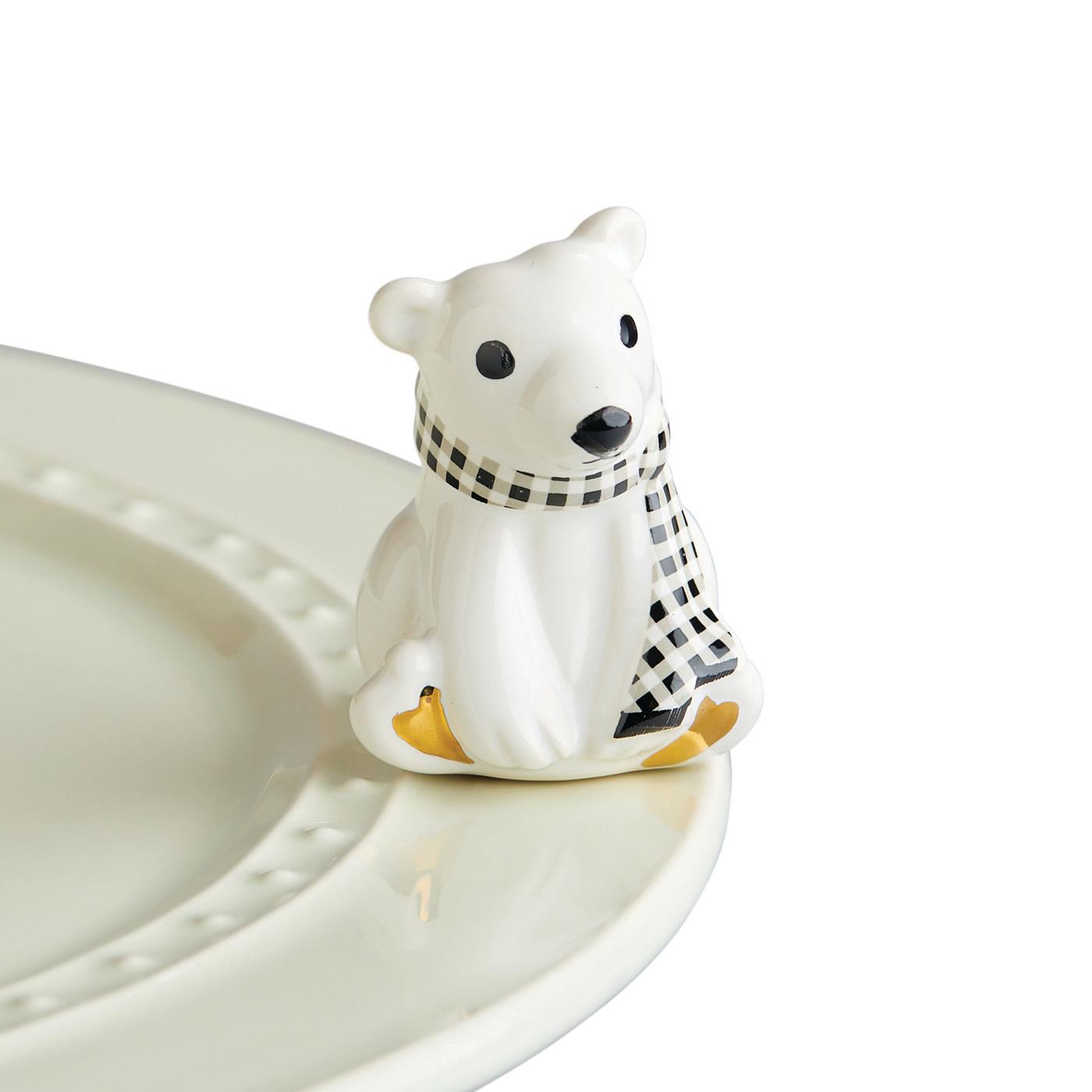nora fleming polar brrrrr! mini (polar bear)