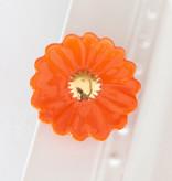 nora fleming orange gerber daisy flower mini (boutiques exclusive)